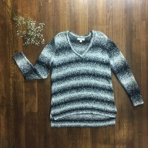 Michael Kors L marled striped layer casual comfy